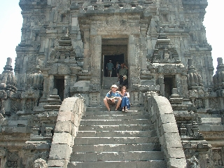 Us at the Shiva temple in Prambanan