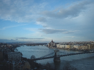 The Danube, viewed from Budapest castle