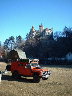 Camping beneath Dracula's castle