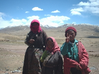 Some curious Tibetans