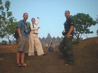 The Great Danes & Robin at Borobodur