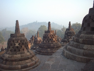 From the top of Borobordur